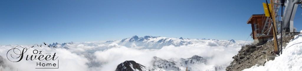 Vue du Pic Blanc toujours enneigé